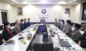 ประธานการประชุมคณะกรรมการพิจารณาข้าราชการตำรวจเข้ารับการฝึกอบรมหลักสูตรจากสถานฑูตสหรัฐอเมริกา (S.A.)